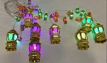 Ramadan and Eid Decorative Multi Colored LED Gold Lantern Lights